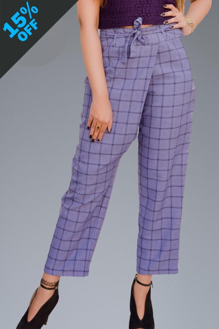Checked Pant 019#432
