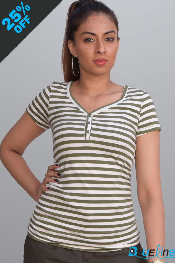 Stripe T-Shirt 015#279